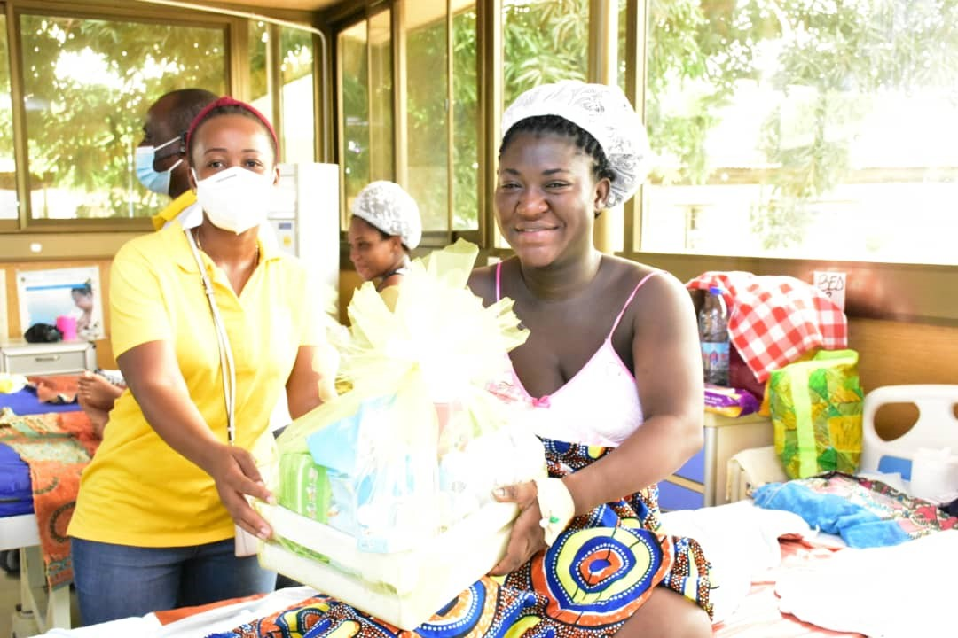 """MTN WELCOMES """"CHRISTMAS BABIES"""" WITH SPECIAL GIFTS"""